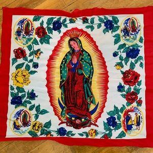 Vintage Virgin Mary Square Scarf